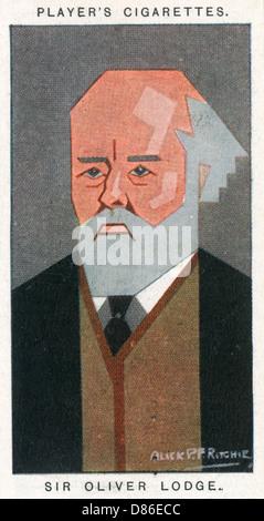 Sir Oliver Joseph Lodge British Physicist - Stock Photo