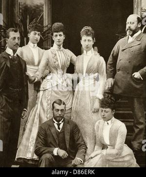 King Edward Vii Alexandra Of Denmarks Five Children 1891 - Stock Photo