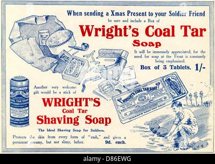 Wrights Coal Tar Soap Advertisement  Ww1 - Stock Photo