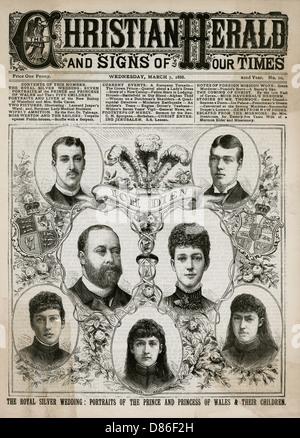 Edward Vii And Alexandra Silver Wedding Anniversary 1888 - Stock Photo