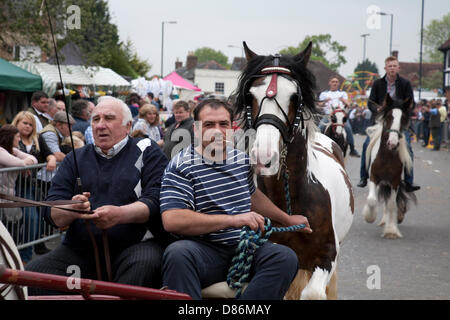 Wickham, Hampshire, UK, 20th May 2013. The historic Wickham Horse Fair takes place in the centre of the town, attacting - Stock Photo