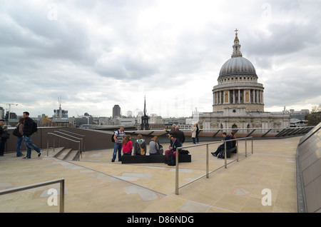 St. Paul's Cathedral seen from the top of One New Change in London, UK. - Stock Photo