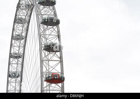 The London Eye in London, United Kingdom. - Stock Photo