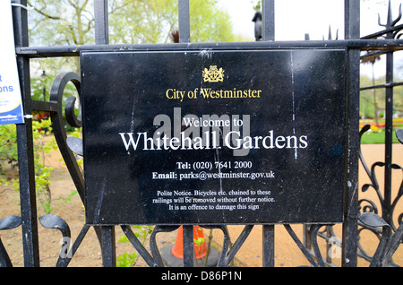 Whitehall Gardens in London, UK. - Stock Photo