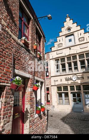 Guild house on Corduwaniersstraat Ghent Belgium - Stock Photo