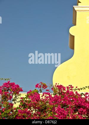 Artistic image of the Monastry front architectural element , near Paleokastristas, Corfu Island, Greece - Stock Photo