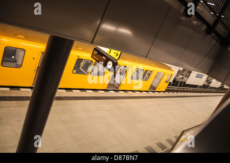 Underground subway line U55 of the Berlin U-Bahn, in the station Brandenburger Tor - Stock Photo