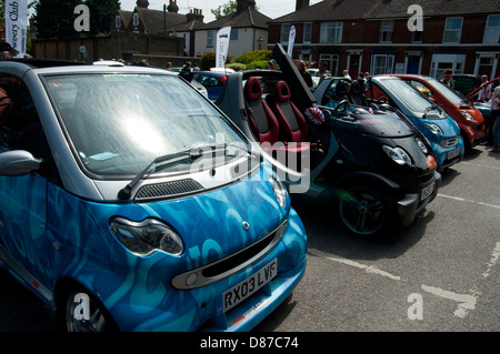 Transport motor show at faversham in kent all types of classic cars and buses on show over the weekend Smart Cars - Stock Photo