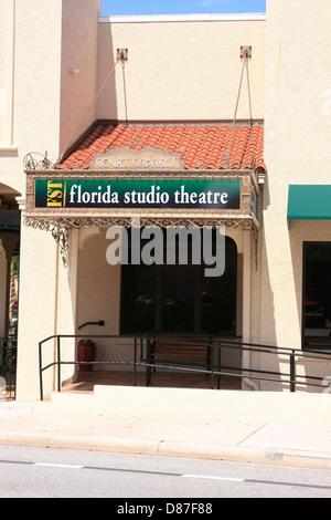 The Florida Studio Theatre in downtown Sarasota - Stock Photo