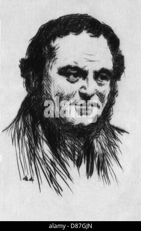 Stendhal Etching - Stock Photo