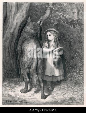 Riding Hood Wolf Dore - Stock Photo