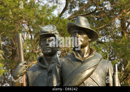 Statue Of A Civil War Soldier On The War Memorial In