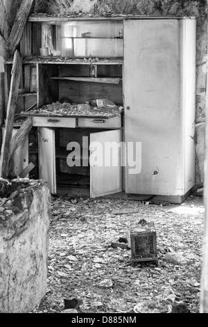 Inside Old Cottage Before Demolition