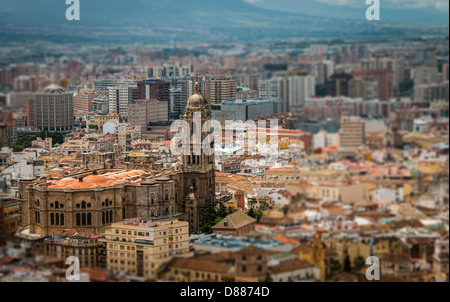 The Cathedral of Málaga is a Renaissance church in the city of Málaga in Andalusia in southern Spain. - Stock Photo