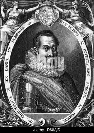 Christian Iv 1577 1648 - Stock Photo