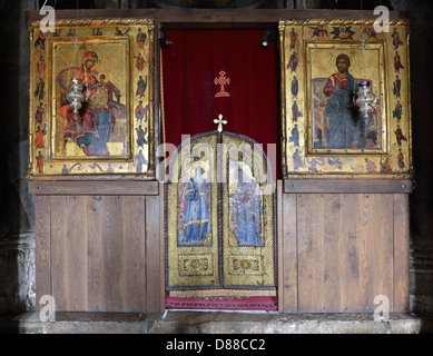 Interior of the church in Gracanica Monastery, Kosovo - Stock Photo