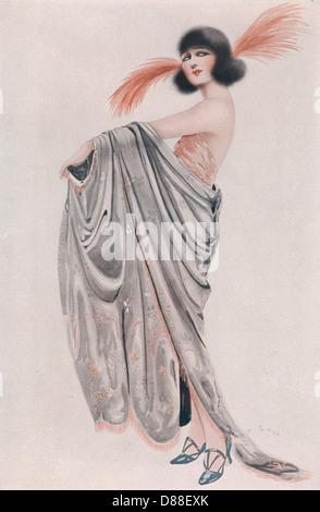 Bebe Daniels Sketch 1923 - Stock Photo