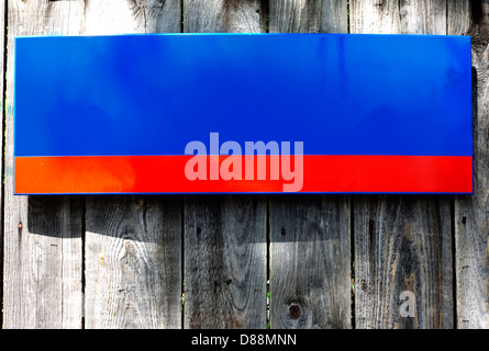 Old empty sign of street on wooden boards background concept - Stock Photo
