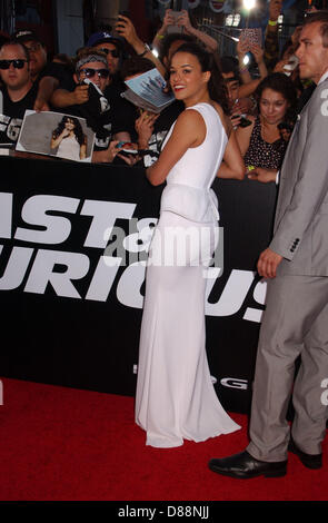 Los Angeles, California, USA. 21st May 2013. Michelle Rodriguez attends the Premiere Of ''Fast & Furious 6  at the - Stock Photo