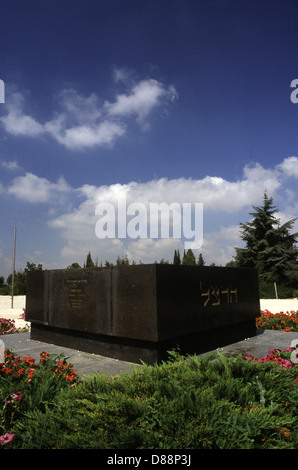 Tomb of the founder of political Zionism Theodor Herzl in  Har HaZikaron or mount Herzl West Jerusalem Israel - Stock Photo