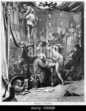 Goethe With Faust Chars - Stock Photo