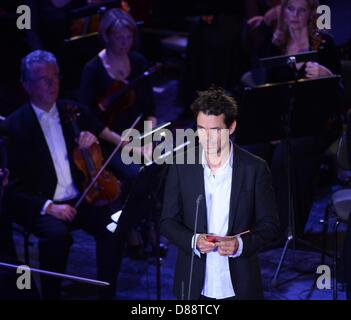 Leipzig, Germany. 21st May 2013. German director Tom Tykwer delivers a speech during the European Cultural Awards - Stock Photo