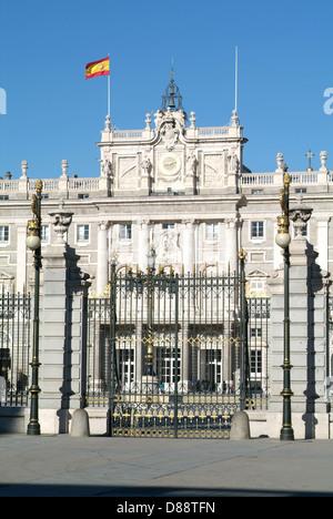 Palacio Real on Armeria Square at Madrid, Spain - Stock Photo