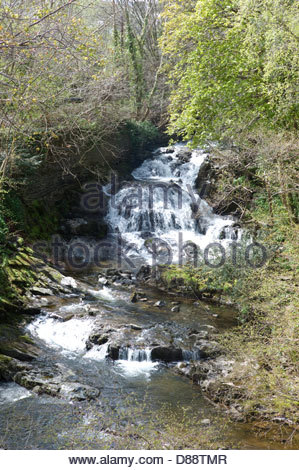 The 'Fairy Falls', Trefriw, Conwy Valley, Wales, UK - Stock Photo