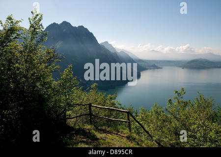 lake iseo, lombardy, italy - Stock Photo