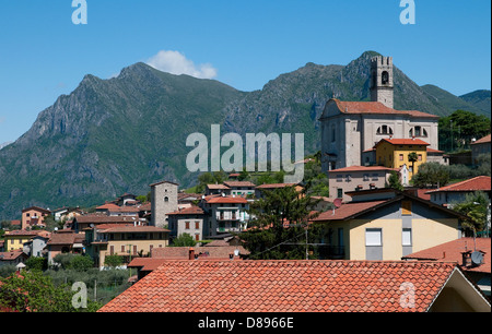 siviano, monte isola, lake iseo, lombardy, italy - Stock Photo