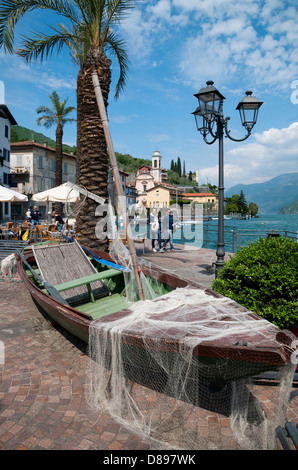 riva di solto, lake iseo, lombardy, italy - Stock Photo