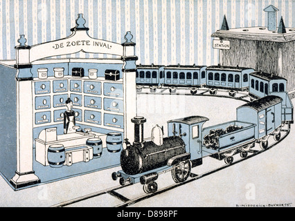 Model Railway Set - Stock Photo