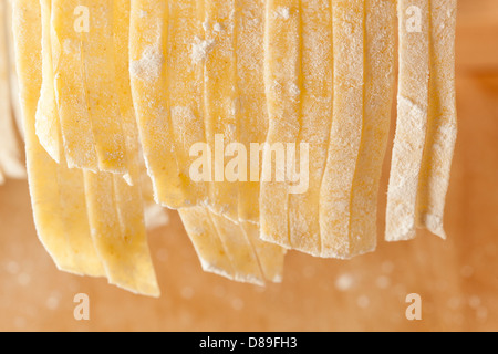 Fresh Homemade Pasta against a background - Stock Photo