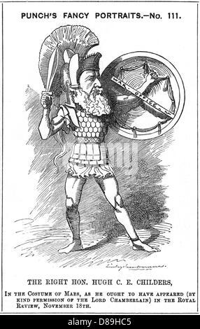 Hugh Childers Cartoon - Stock Photo