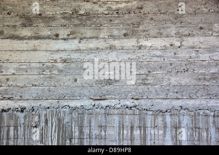Concrete wall background with paint stains. Under construction cement texture. - Stock Photo