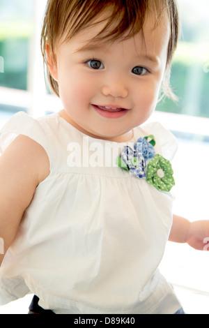 Thirteen months old baby girl - Stock Photo