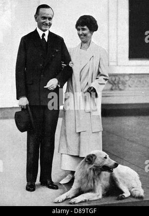 Coolidge And Wife - Stock Photo