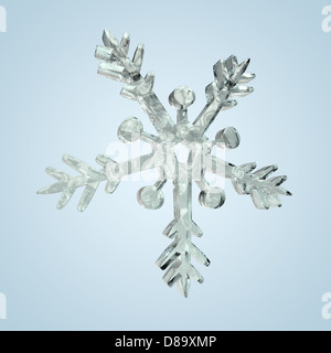 Snow crystal comes when the winter dawn, and it begins to snow. - Stock Photo