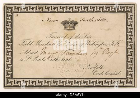 Funeral Card Wellington - Stock Photo