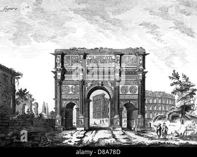 Arch Of Constantine Rome - Stock Photo