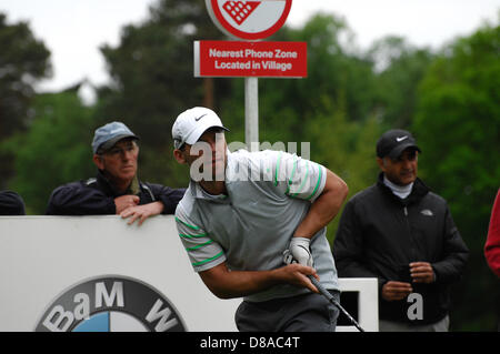 Wentworth, UK 21st May 2013. Paul Casey during practise ahead of the BMW Championships. - Stock Photo