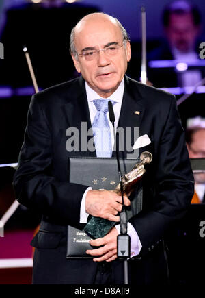 Leipzig, Germany. 21st May 2013. Zaki Nusseibeh speaks after receiving the European Culture Prize during the European - Stock Photo