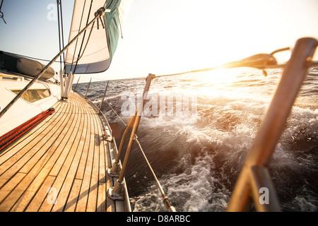 Sailing regatta in the Aegean Sea - Stock Photo