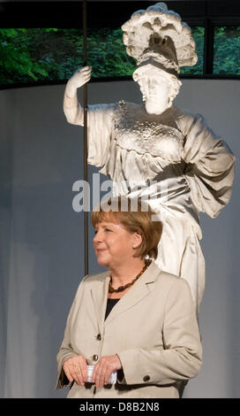 German Chancellor Angela Merkel takes part in a reception for first German-DutchCabinet Meeting at the Kurhaus - Stock Photo