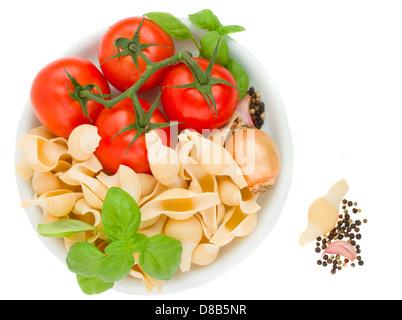 italian pasta in plate - Stock Photo