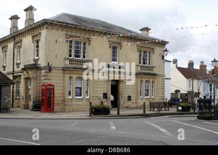 Large stone bank building in Thornbury Gloucestershire, May 2012 - Stock Photo