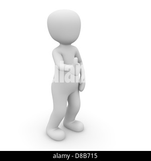 The 3d character makes a good assessment. - Stock Photo