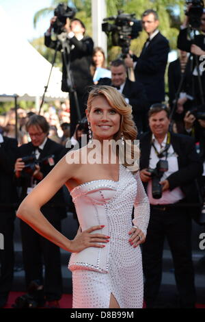 May 23, 2013 - Cannes, France - CANNES, FRANCE - MAY 23: Model Heidi Klum attends the Premiere of 'Nebraska' during - Stock Photo