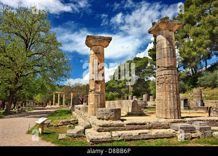 Temple of Hera (Heraion). Doric style. Peripteral and ...