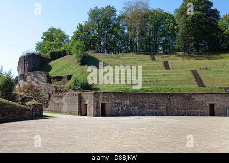 Amphitheater from the Roman Age, Trier, Rhineland-Palatinate, Germany, Europe - Stock Photo
